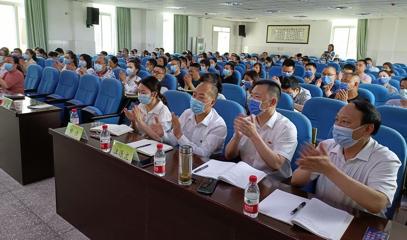 杨淑全团长率党史学习教育市委宣讲团第三分团走进沐川县卫生系统开展专题宣讲